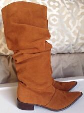 Chinese Laundry Winner Western Chestnut  Leather Slouch Pointy Boots Sz 7.5M
