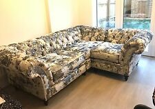 HANDMADE CHESTERFIELD CRUSHED VELVET CORNER SOFA SUITE, AVALIABLE IN 52 FABRICS