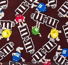 """Mars M&M's Logo 100% cotton 44"""" wide fabric by the yard"""