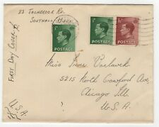 1936 Sep 1st. First Day Cover. ½d Green & 1½d Red-Brown King Edward VIII.