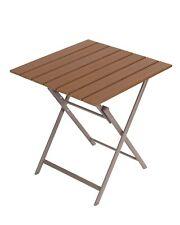 Aluminium Klapptisch Gartentisch Balkontisch Beistelltisch Tisch Braun Nr.70 Neu