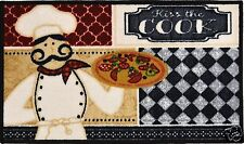 LIVING CLASSICS KISS THE COOK KITCHEN RUG NON SKID BACK