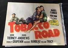 "Rare 1956 Reissue Large 28"" x 22"" Tobacco Road Film Poster"