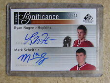 11-12 SPGU SP Game Used Extra SIGnificance NUGENT-HOPKINS / MARK SCHEIFELE /25