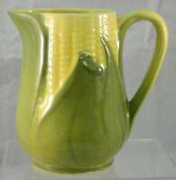 "Shawnee Pottery USA Corn King Vintage Yellow & Green Creamer Pitcher #70 4.75"""