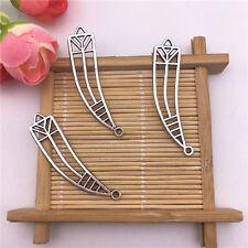 Wholesale 6pcs Tibet Silver Hollow Spike Charm Pendant Beaded Jewelry