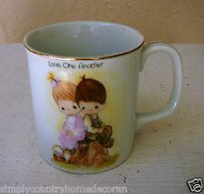 Enesco Precious Moments Mug~Love One Another~Jonathan-David~19 84~8 Oz~Free Ship