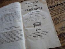 DEMOSTHENES HARANGUE SUR LA COURONNE CTESIPHON OLYNTHIENNES 1830 BOUTMY VENDEL
