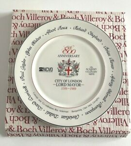 Villeroy & Boch 800th Anniversary London Lord Mayor Special Production Plate