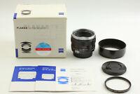 【Mint in Box w/ Hood & Filter】 Carl Zeiss Planar T* 50mm F1.4 ZF Lens from JAPAN