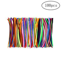 100pcs Colorful Pipe Cleaner Chenille Stem Multi Usage Fiber Pipe Stem FD18