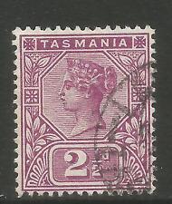 Tasmania 1892-99 Queen Victoria 2 1/2p magenta (77) used