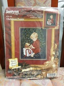 Christmas Puppy - Counted Cross Stich Kit 10'' x 12'' by Janlynn (29-30)