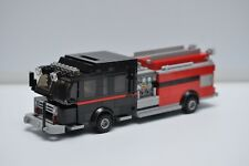 LEGO Fire Truck Engine Rescue Black Red Ladder Speed Champions Custom