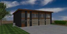 Triple Car / 3 Car Garage Architectural Plans / Blueprints PDF  - 24'X40'