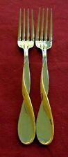 Oneida GOLDEN AQUARIUS  Set of 2 Dinner Fork (s) Stainless Flatware  USA