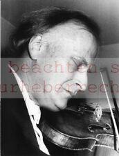Werner eckelt: Yehudi Menuhin violinista a violino ORIG. fotografia vintage