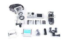 EXC+++ GOPRO HERO2 KIT, 2 BATTS, 2 HOUSINGS, CLIPS, BACKS, LCD SCREEN++ CLEAN