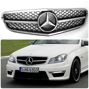 Mercedes Benz W204 AMG Grill 2007- 2014 One Strip C63 Look Facelift Sport
