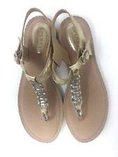 281a5a25622e Sperry Anchors Away Women s Flip Flop Sandals Platinum Gold Sz 6 Ankle T  Strap