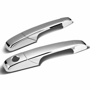 2007-2013 Chevy Silverado GMC Sierra 1500 2500 3500 CHROME 2Dr Handle Covers
