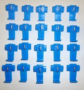 100 BLUE  WIRE JOINERS CONNECTORS SCOTCHLOK LORRY CAR RADIO TAXI METER MARINE