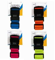 2PC Adjustable 3 Digit Combination Luggage Straps Baggage Suitcase Tie Down Belt
