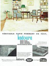 PUBLICITE ADVERTISING 126  1962  tapis Kadoura  en Peltex Crylor
