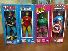 Vintage mego thor ironman captain america hulk lot with repro boxes