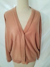 Brunello Cucinelli Sweater cardigan pink gold sz L