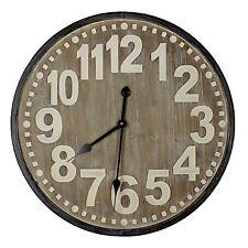 Hometime Oversized Large Decorative Wall Clock Retro Vintage Home Decor 60cm