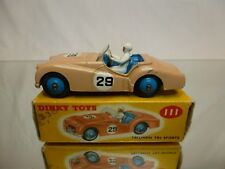DINKY TOYS 111 TRIUMPH TR2 SPORTS - 1:43 - EXCELLENT CONDITION IN BOX