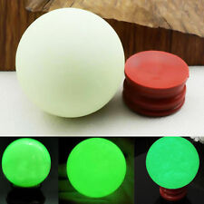 Big Gree Luminous Quartz Crystal Sphere Ball Glow in The Dark Stone With Base