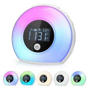 Bluetooth Speaker Night Light Dimmable Changing Color Bedside Lamp, Alarm Clock