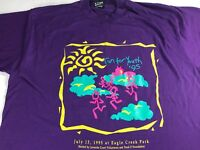 Run For Youth T-Shirt VTG 1995 Adult XL 90s USA Made Purple Eagle Creek Park Tee