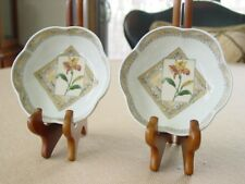 """Pair of Royal Worcester Country Garden Candy Dishes 4.9"""" England 1996 Porcelain"""
