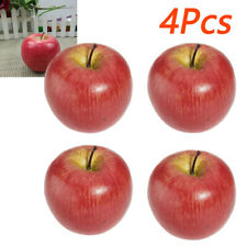 4* Artificial-Apple Fake Fruit Display Kitchen Home Foods Decor Photograph Prop