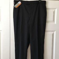 SAVANE 33W X 32L Black Sharkskin Slacks NWT Straight Fit Performance Dress Pants