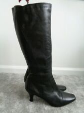 GEORGE BLACK KNEE BOOT 100% LEATHER SIZE 8 EXCELLENT