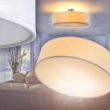 Lampada soffitto Plafoniera Luce Sala da pranzo Salotto Paralume Tessuto Bianco