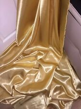 "30 MTRS GOLD SATIN LINING FABRIC..58"" WIDE FULL ROLL £45 32 YARDS ON ROLL"