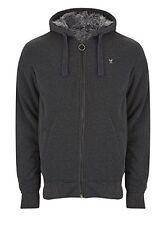 BNWT Charcoal RINGSPUN Greylock Fleece Lined Hooded Jacket Size Medium RRP £40