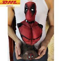 New 2019 33cm 13inch Statue X-Men Superhero Deadpool Bust Resin Action Figure