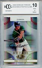 GIANCARLO STANTON MIKE 2008 Donruss Threads rookie Auto #/465 BGS BCCG 10 MINT