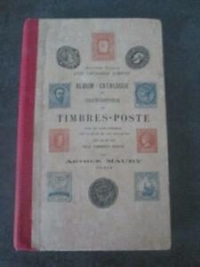 A4-C4- Album-catalogue du collectionneur de timbres- poste- Arthur Maury