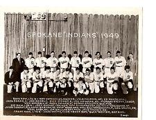 1949 Spokane Indians Baseball 8x10 Team Photo Wil Washington Usa