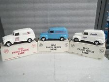 CHEVY 1950 PANEL TRUCKS-DIE CAST-3 Different logos- COIN BANKS