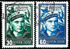 Russia #1252-1253, used -1948- Navy Day - Complete Set - CV=8.-