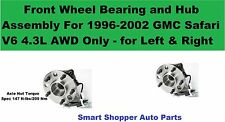 Front Wheel Hub Assembly For 1996-2002 GMC Safari V6 AWD - Left and Right Wheel