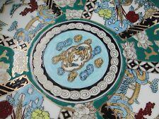 GOLD IMARI GIM1 Dinner Plate (s) Aqua-Teal Parrot, Dragon *multiples*